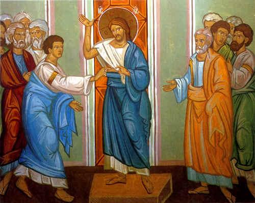 Thomas veut voir les plaies de la passion pour croire que Jésus est vraiment ressuscité
